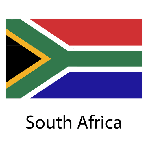South africa national flag Transparent PNG