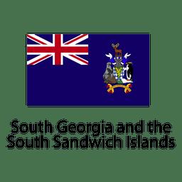 South georgia y la bandera nacional sandwich del sur