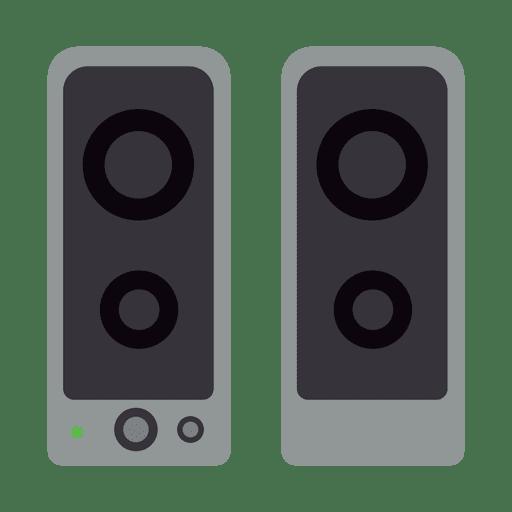 Ícone plana de alto-falantes Transparent PNG