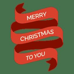 etiqueta fita vermelha do Natal Spinning