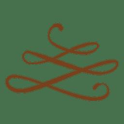 ornamento floral espiral