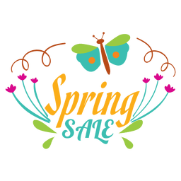 Frühling Verkauf Blumenetikett