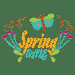 Rótulo floral de venda de primavera