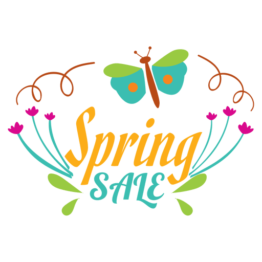 Spring sale floral label Transparent PNG
