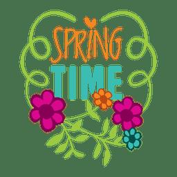 Emblema de rótulo de venda tempo de primavera