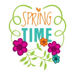 Spring time sale label badge