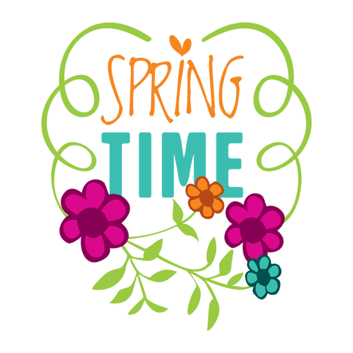 Spring time sale label badge Transparent PNG