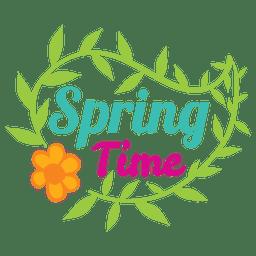 Etiqueta de venta de tiempo de primavera