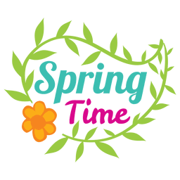 Spring time sale label