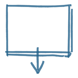 Caixa de mensagem de seta quadrada
