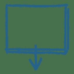 Cuadro de mensaje de flecha cuadrada