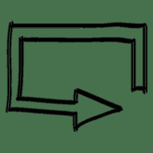 Square bottom direction arrow