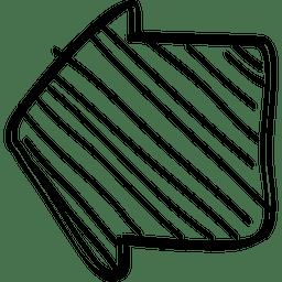 Cursor de flecha de inicio cuadrado
