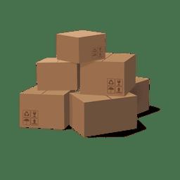 Pila de cajas de carton