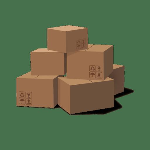 Pilha de caixas de papelão Transparent PNG