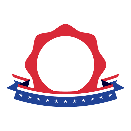 Star badge usa flag Transparent PNG