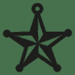 Estrella chuchería icono de navidad