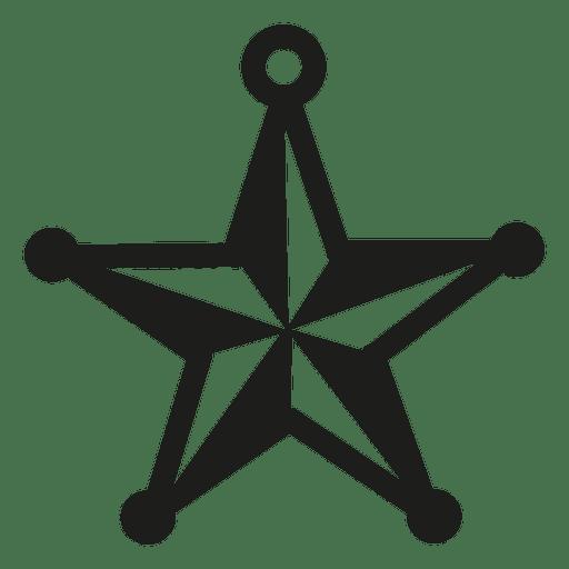 Icono de Navidad estrella chuchería Transparent PNG