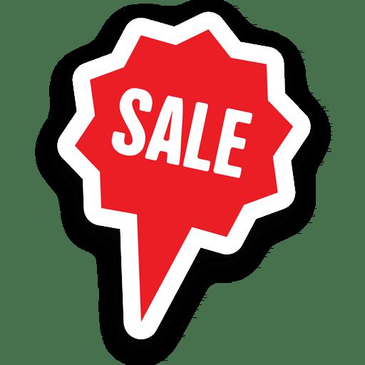Sternblase Verkauf Aufkleber Transparent PNG