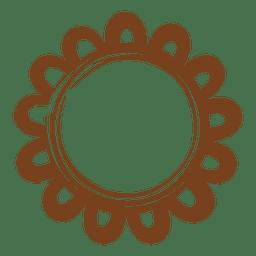 Decoração da estrela do quadro da grinalda