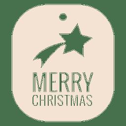 Insignia de Navidad troquelada en estrella