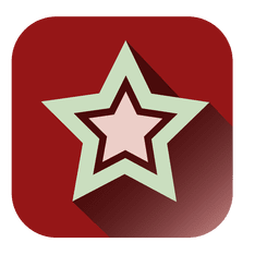 Star red square icon