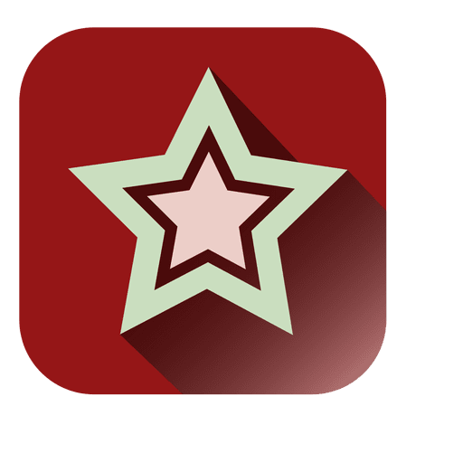 Star red square icon - Transparent PNG & SVG vector file