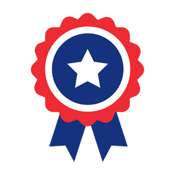 Star ribbon usa badge