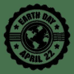 etiqueta da estrela do Dia da Terra redonda