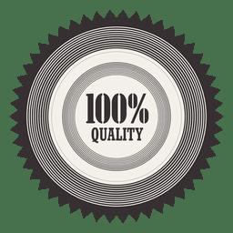 Starry 100 percent quality badge