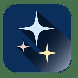 Stars blue square icon