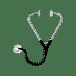 Estetoscopio médico icono plana