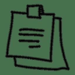 Icono dibujado mano nota adhesiva