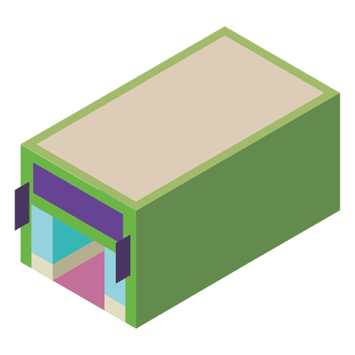 Store building isometric icon Transparent PNG