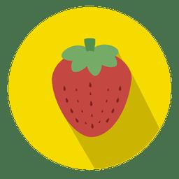 Icono de círculo de fruta de fresa