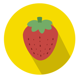 Strawberry fruit circle icon