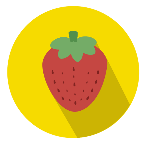 Strawberry fruit circle icon Transparent PNG