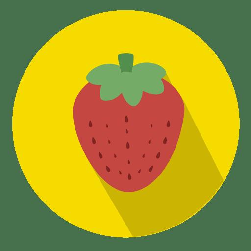 Strawberry fruit circle icon