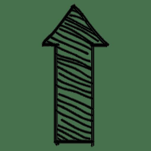 Stripe upper direction arrow