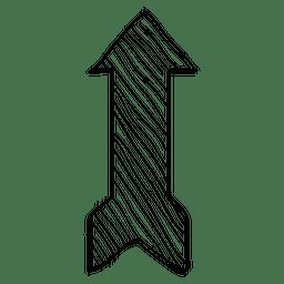 Desenho de seta de fita de listras