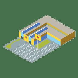 Ícone isométrica plana de supermercado