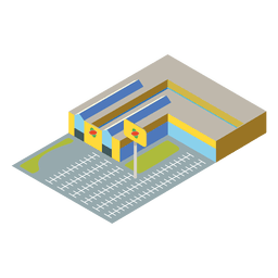 Supermarket flat isometric icon