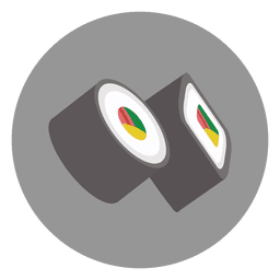 Sushi circle cartoon icon
