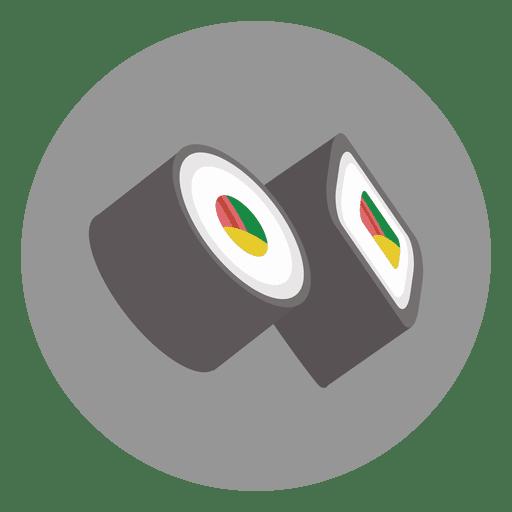 Sushi circle cartoon icon