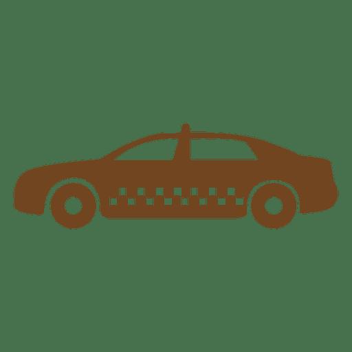 Silueta de icono de taxi taxi Transparent PNG