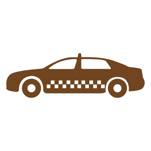 Taxi cab icon silhouette Transparent PNG