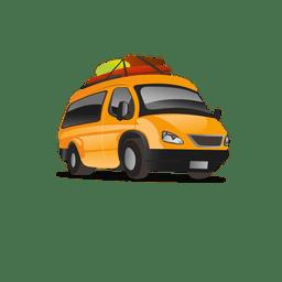 Icono de dibujos animados de taxi