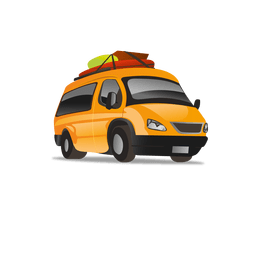 Taxi cartoon icon