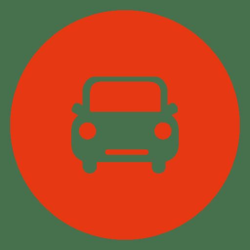 Ícone de círculo de táxi