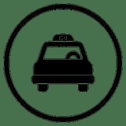 Taxi-Reise-Runde Symbol
